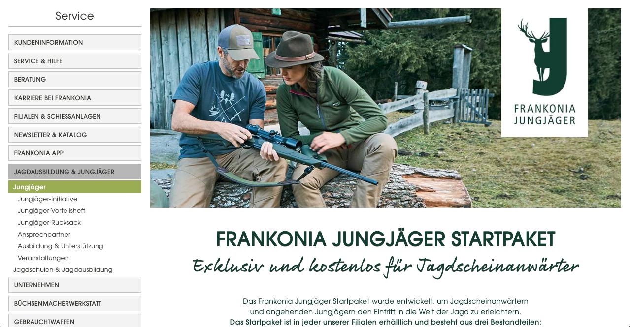 Frankonia-Jungjäger-Paket-Webseite